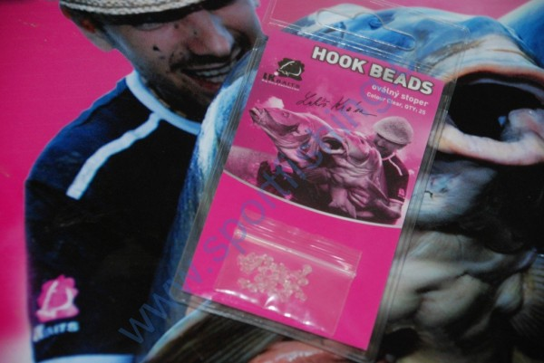 LK Baits Hook Beads Oval Clear