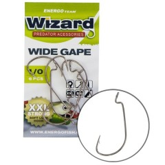 WIZARD háček drop-shot WIDE GAPE XXL STRONG s protihrotem