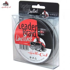 HELL-CAT Návazcová šňůra Leader Braid Line Black 20m