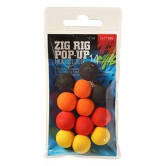 Pěnové plovoucí boilie Zig Rig Pop-Up 10mm mix color,12ks