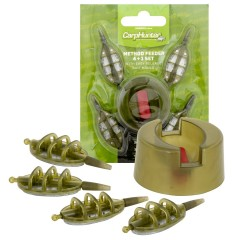 CARP HUNTER Method Feeder set 4+1